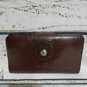 Hobo Brown Leather Danette Wallet